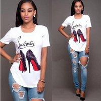 t-shirt imprimé numérique femme achat en gros de-Mode style femmes Impression numérique T-shirt marque vêtements manches courtes chemises élastiques femmes décontractées t-shirts tops taille S-3XL