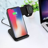 Wholesale apple watch chargers resale online - Wireless charger Qi for iPhone Pro XS Max XR X8 fast wireless charging base for Apple watch charger