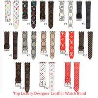 pulseiras de couro 22mm venda por atacado-Novo designer de pulseira de relógio de couro para iwatch 38mm 22mm 42mm 24mm tamanho bandas pulseira para apple watch watchbands 13 estilos