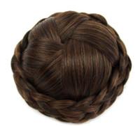Wholesale chignon online - 13 New hair bag high grade silk professional hairpin bride hair fluffy short curly hair ball hairpin
