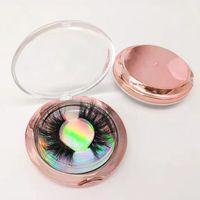 extensions de faux cils achat en gros de-3D Cils De Vison 25mm Cils De Vison Maquillage Pour Les Yeux Épais Long Curl Vison Cils Extension Naturel Faux Cils RRA1217