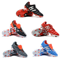Wholesale soccer shoes limited edition resale online - New Classics Predator Mania OG FG Red Silver White LIMITED EDITION Beckham ZZ Men soccer shoes cleats football boots