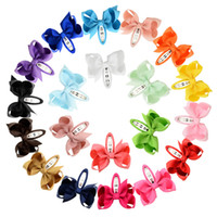 Wholesale cute travel accessories resale online - Girl Candy Color Bowknot Barrettes Cute Baby Ribbon Bows Hair Clip Children Party Travel Hairwear Princess Hair Accessory TTA767