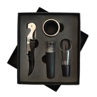 Wholesale kitchen funnels stainless steel resale online - Wine Opener Set Wine Aerator Decanter Pourer Funnel Opener Set with Box Kitchen Bar Tools HHA630