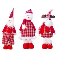 pequenas decorações de árvore de natal venda por atacado-Árvore de Natal Acessórios de pano de Natal Doll Decoration pequeno pingente de presente da árvore Decoração Ornamentos