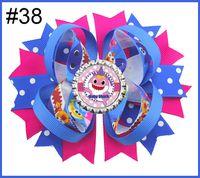 orange burgundy haare großhandel-freie Baby-Karikatur-Haifischhaarbögen des Verschiffens 5pcs mit Baby beugt Haifisch-Puppenclipmädchen-Haarbögen für Kind-Mädchenhaarzusätze