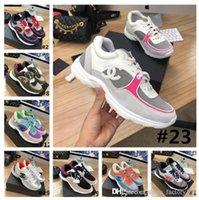 palmilhas venda por atacado-Formadores Designer Patent clássico Suede Leather Sneakers mulheres, sapatas de bezerro Tecido Mulheres planas com Palmilha colorido com Box