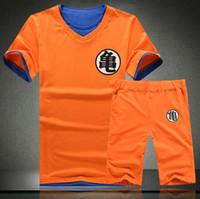habiller la chine achat en gros de-Dragon Ball Vêtements Ensemble Hommes D'été Dragon Ball Mens Slim Fit Cosplay 3D T-shirts Survêtements En Coton Décontracté Homme Chine Japon Cartoon