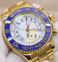 сапфир мужские часы оптовых-Золотые дизайнерские часы 44 мм с автоматическим механизмом Механические мужские часы из нержавеющей стали Сапфировое стекло ЯХТ класса люкс с автоподзаводом