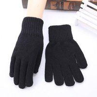 Wholesale SUOGRY Men Gloves Knitted Anti Slip High Quality Thicken Warm Gloves Winter Autumn Women Mitten