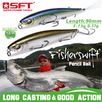 Wholesale fishing lures sinking resale online - SFT Fishing Lures mm g g mm g gHard Pencil Lures Floating Sinking Artificial Sea Bass Fish Bait