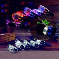 brinquedo de vibração remota venda por atacado-Eco-Friendly Preto LED iluminado Brinquedos LED Pulseiras Voice Control Pulseiras vibração Sensing Remote Sensing Silicone Wrist Band Vocal