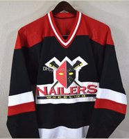 Wholesale hockey 5xl for sale - Group buy custom jersey XL XL Vintage Wheeling Nailers burk Hockey Jersey Briere Hockey Jersey Embroidery Stitched Customize any number and name J