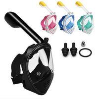 Wholesale snorkelling masks resale online - Adult Teenager Diving Mask Underwater Scuba Anti Fog Full Face Diving Mask Snorkeling Set with Anti skid Ring Snorkel mask m773
