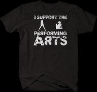 mini şerit kulüp toptan satış-Sahne Sanatları Kulübü'nü Destekliyorum Komik Tshirt