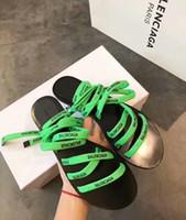 ingrosso scarpa piatta-Sandali piatti Donna Scarpe con tacco a spillo Nero Donna Sandali con zeppa Design di lusso con rivetti con estirpante Sandali di lusso Vamp