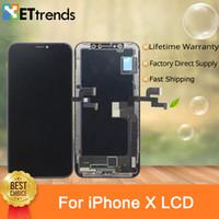 oled anzeigen großhandel-Helligkeit OLED Bildschirmanzeige für iPhone X Touchscreen Digitizer Assembly Ersatz lebenslange Garantie DHL geben Verschiffen frei