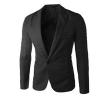 один размер подходит для одежды оптовых-2018  Clothing Blazer Men One Button Men Blazer Slim Fit Costume Homme Suit Jacket Masculine Size M-3XL Charm Males