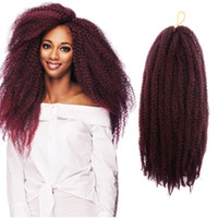 Wholesale braid weave hair extensions resale online - Hot Sale Packs Marley Braids Hair Extension Ombre Afro Curly Synthetic Crochet Kanekalon Braiding Hair Weave Synthetic Hair Extensions