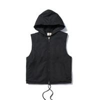 Mens Designer Jacken ärmel Fashion High Street Warm Baumwolle mit Kapuze Weste beiläufige Outwear schwarze Aprikose S XL