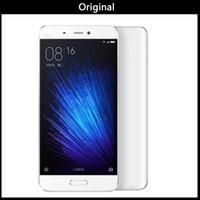xiaomi 4g toptan satış-100% Yeni Orijinal Xiaomi Mi5 Snapdragon 820 5.15 inç 16.0 MP 4G LTE Dört Çekirdekli 32 GB ROM Parmak Izi KIMLIĞI Hızlı Şarj Smartphone VS Xiaomi Mi5s