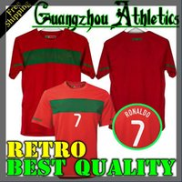 Wholesale portugal jerseys for sale - Group buy 10 Portugal home retro jersey Portugal South Africa World Cup jersey RONALDO NANI S XXL retro jersey