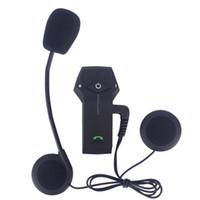 Wholesale bluetooth intercom headset for helmet for sale - Group buy FreedConn Motorcycle Helmet Headset M Bluetooth Intercom with NFC FM Radio Function For Phone GPS MP3