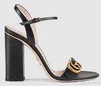 ingrosso sandali dei talloni della scatola-Scarpette da donna Sandali Tacco a spillo scarpe pantofole Sandali in vera pelle Suola gomma Eu: 35-41 Con scatola di shoe04
