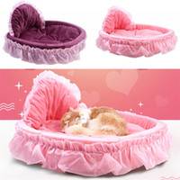 Wholesale popular beds resale online - Lace Princess Bed Pet Waterloo Four Seasons Bowknot Cloth Doghouse Fashion Popular Pets House With Various Color md J1
