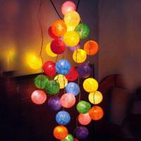 ingrosso ha condotto le luci della stringa del patio-Spedizione gratuita !!! 50 Balls Cotton Ball String Light Decorazione natalizia Lampada Festone di Natale Illuminazione Patio Garden Holiday LED 1pcs # L35