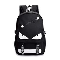 mektup baskı omuz çantası toptan satış-New Fashion Brand Designer Backpack Luxury Outdoor Traveling Letter Printed School Bags for Men Women Students Backpacks Double Shoulder Bag