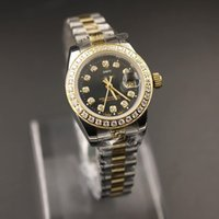 Wholesale surface wristwatches for sale - Group buy New High Quality Automatic Machinery Ladies Diamond k Day Date Gift Watch Sapphire Surface Wristwatch