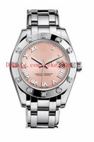 Wholesale stainless steel border resale online - 7 style Fashion Wristwatches Datejust Pearlmaster mm mm Diamond border Roman Mechanical Automatic Ladies Womens Watches