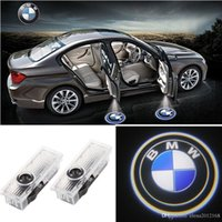 Wholesale bmw door lights resale online - 2x Car Door LED Logo Light Laser Projector Lights Ghost Shadow Welcome Lamp Easy Installation for BMW M E60 M5 E90 F10 X5 X3 X6 X1 GT E85 M3