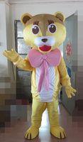 traje de león amarillo al por mayor-2019 trajes de la mascota del león amarillo