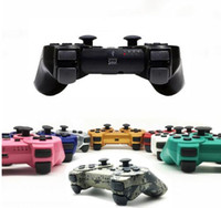 gamepad para playstation al por mayor-El mejor regalo Gamepad inalámbrico Joystick controlador de juego para Sony PS3 controlador de doble vibración Joystick Gamepad para Playstation 3 controlador