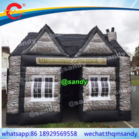 Wholesale build wooden house for sale - free air ship to door Inflatable Pub tent inflatable irish bar inflatable building party cabin house inflatable bar tent
