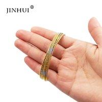 pulseras de plata africana al por mayor-Jin Hui moda de las pulseras de plata del color del oro para joyería Mujeres Dubai novia boda, regalos brazalete Oriente Medio africanos