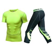 vücut şekillendiren erkekler toptan satış-Sıcak erkek Şekillendirme Yelek + Pantolon Sıkıştırma Zayıflama Bel Eğitmen Siyah T Gömlek Spor Vücut Shapewear İç Setleri S1
