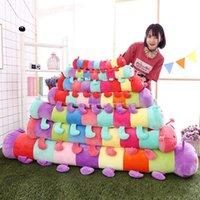 doldurulmuş tırtıllı oyuncaklar toptan satış-Yumuşak Caterpillar Peluş Çocuk Hediye Dekorasyon Yastık Doll İri Doldurulmuş Renkli Anime Oyuncak Sleeping