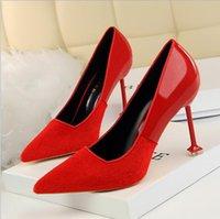 ingrosso scarpe da ginnastica nudi-Designer di moda per le donne Scarpe da donna Tacchi alti rossi Nero Vestito a punta Scarpe Sandali a spillo Scarpe da lavoro da donna Décolleté