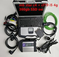 Wholesale fully worked for sale - Group buy A Quality MB Star C4 SD Connect with Software V SSD Laptop CF19 work for star diagnosis c4 Diagnostic Tool fully kit