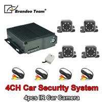 Wholesale dvr channel 264 resale online - 4 Channel H SD Car Vehicle Mobile DVR Kits CH Video Record Car Dvr MDVR Kit cameras analog camera