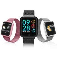 uhr gürtel beobachten großhandel-2019 Fashion Stahlgürtel Smart Watch Männer Frauen Blutdruck Blut-Sauerstoff-Puls-Monitor-Sports Tracker Smart Armband Smartwatch