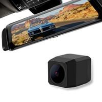 sensor ips venda por atacado-10 Polegadas carro 170 graus Dual Lens espelho retrovisor Auto tela traço Cam Frente IPS Video Recorder seguro Ampla carro DVR Angle HD