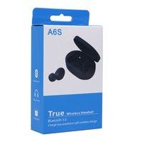 telefones sem fio da vida venda por atacado-New A6S TWS Fone de ouvido Bluetooth Headphone 5.0 sem fio Fones de ouvido Hi-Fi Vida Waterproof Headset Bluetooth com microfone para Todos Phone In-Ear
