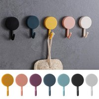 Wholesale hook nails resale online - 10pcs Solid Color Free Punching Door Without Trace Nail Small Hook Clothes Hook Mounted Wall Wall Hooks Decorative