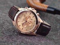 relojes automáticos negro big bang al por mayor-Los hombres de moda de primeras marcas Súper reloj mecánico automático para hombre 1512963 Conductor Dial Negro Cuero Negro Jefe Big Bang Relojes de los hombres