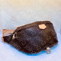 женские крестообразные мешки для тела оптовых-BUMBAG M43644 SAC CEINTURE дизайнер женская мода грудь талии пояс сумка роскошный поясной мешок креста тела Марка сумка с монограммой холст