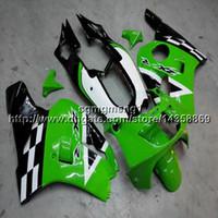 Wholesale 1996 kawasaki ninja plastics for sale - Group buy colors Gifts Green and black lattice motorcycle cowl For Kawasaki ZXR400 ABS Plastic Fairing